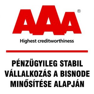 Az AMSY Jelöléstechnika Kft. megkapta a Bisnode legmagasabb AAA minősítését