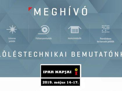 Meghívó az Ipar Napjai 2019 kiállításra