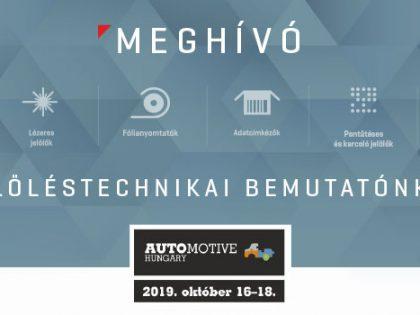 Meghívó az Automotive Hungary 2019 kiállításra